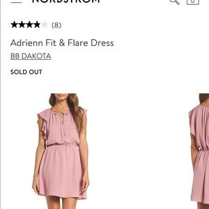 BB Dakota Adrienn Fit & Flare pink dress
